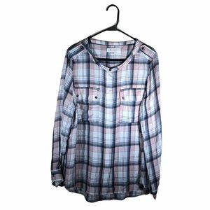 Two by Vince Camuto Button-Up Shirt Flannel Plaid